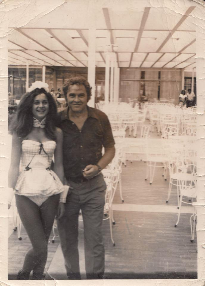 Daniel Gubic's grandfather with a Penthouse Pet.
