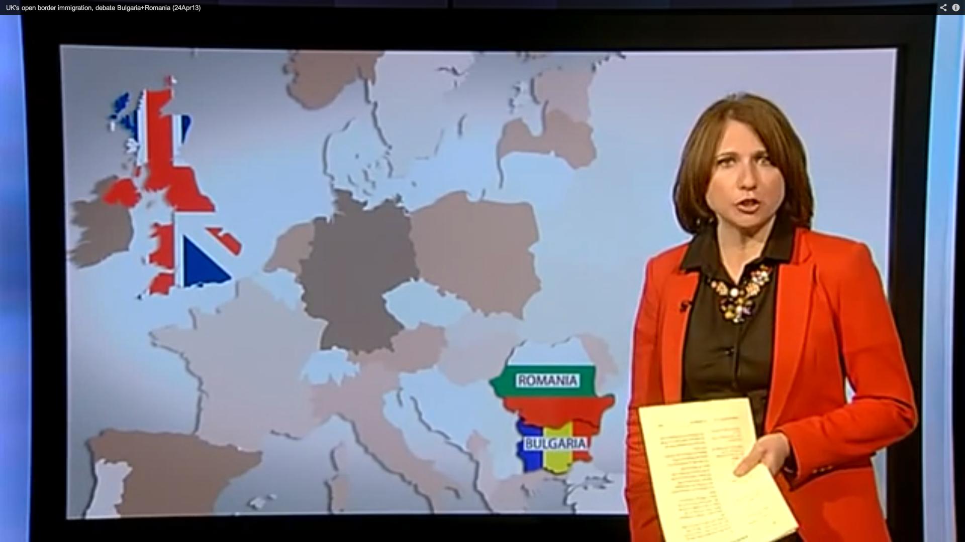 "UK news broadcaster discusses ""migrant invasion"""
