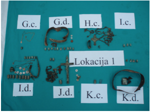 Crosses, rosaries, and priests' collars were found with the remains (credit: cmj.hr)