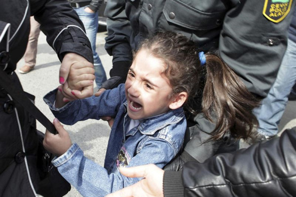 "Azeri girl, 6, arrested at protest for shouting ""freedom"""