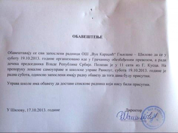 Radna obaveza: Dačićev miting na Kosovu