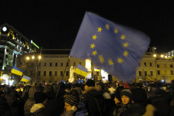 EU Flag on Euromaidan