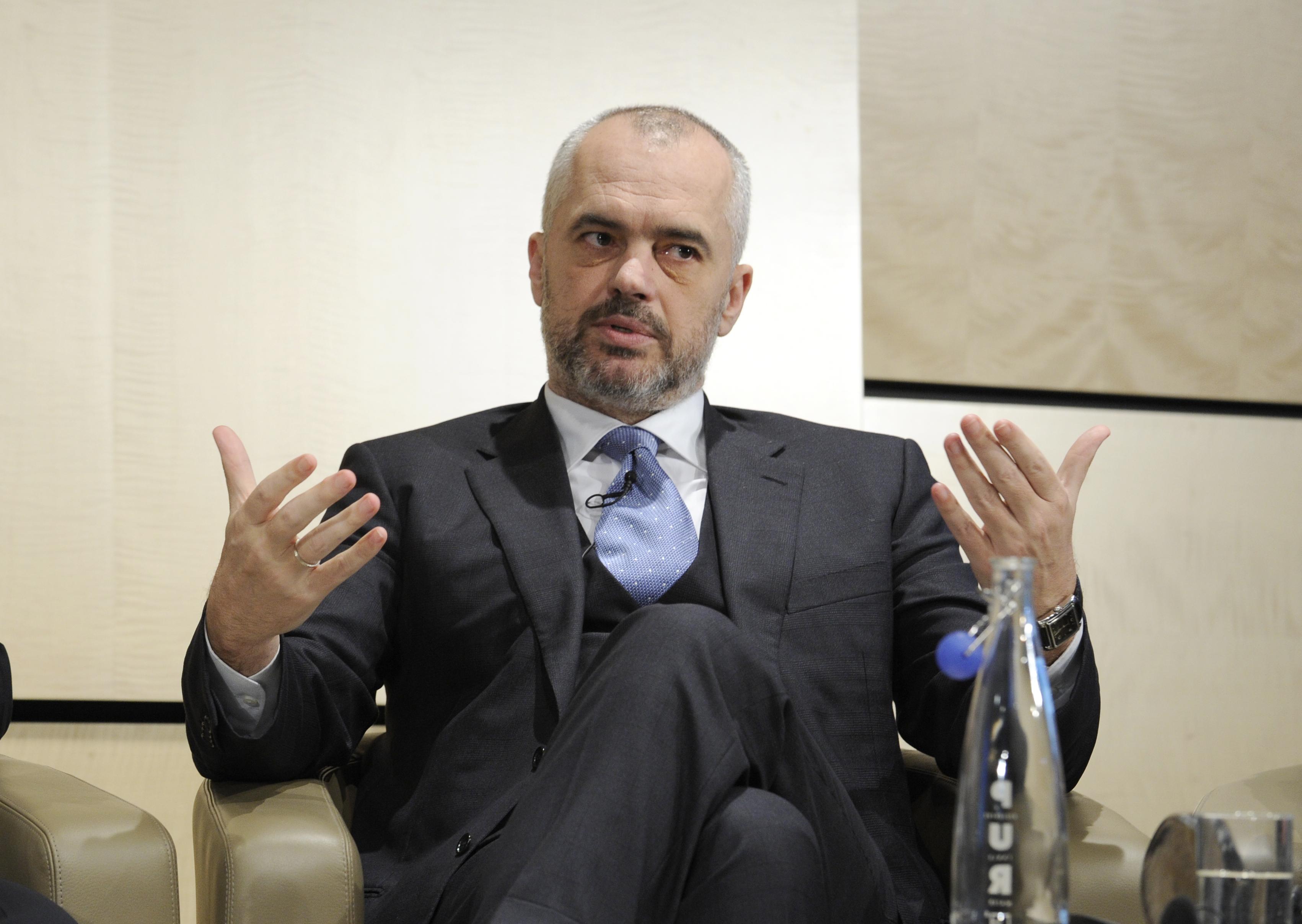 Edi Rama, Prime Minister of Albania at the Western Balkan Investment Forum (via EBRD)