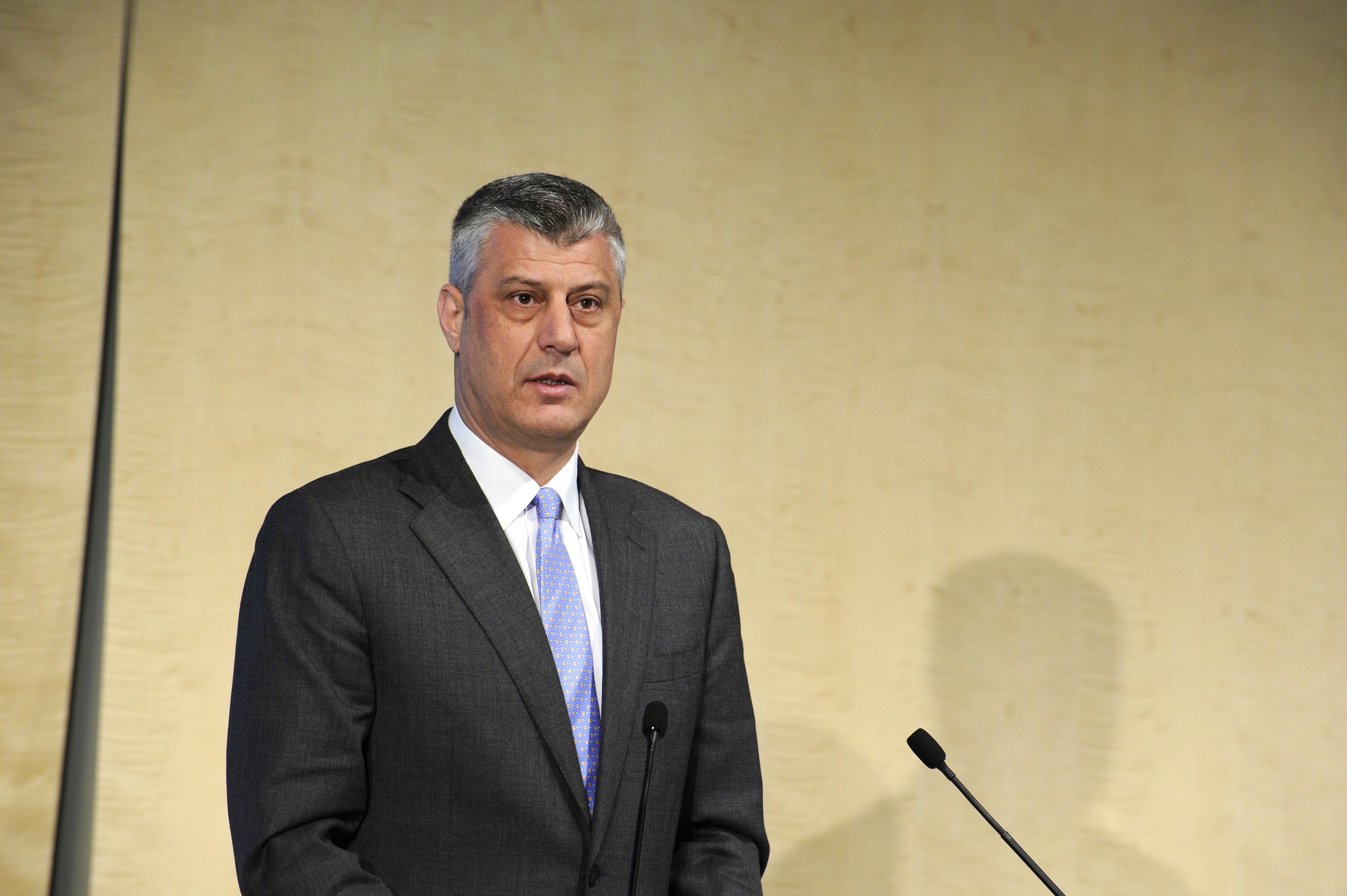 Hashim Thaci, Prime Minister of Kosovo, at the Western Balkan Investment Forum (via EBRD)