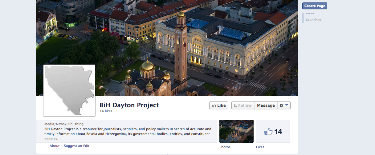 The BiH Dayton Project's Facebook page.