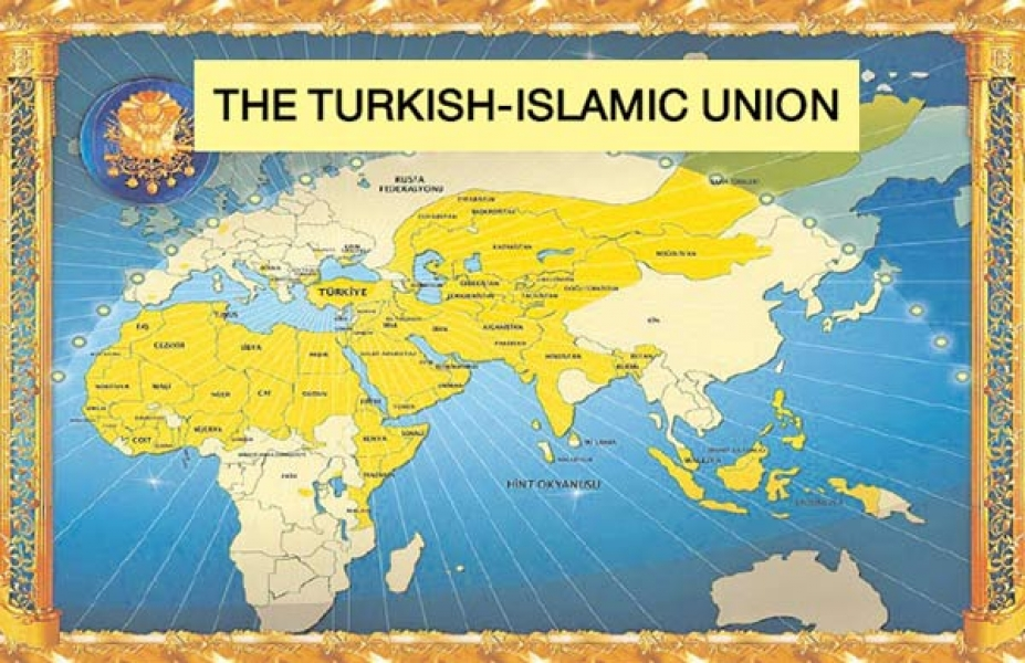 Map of the Turkish-Islamic Union.