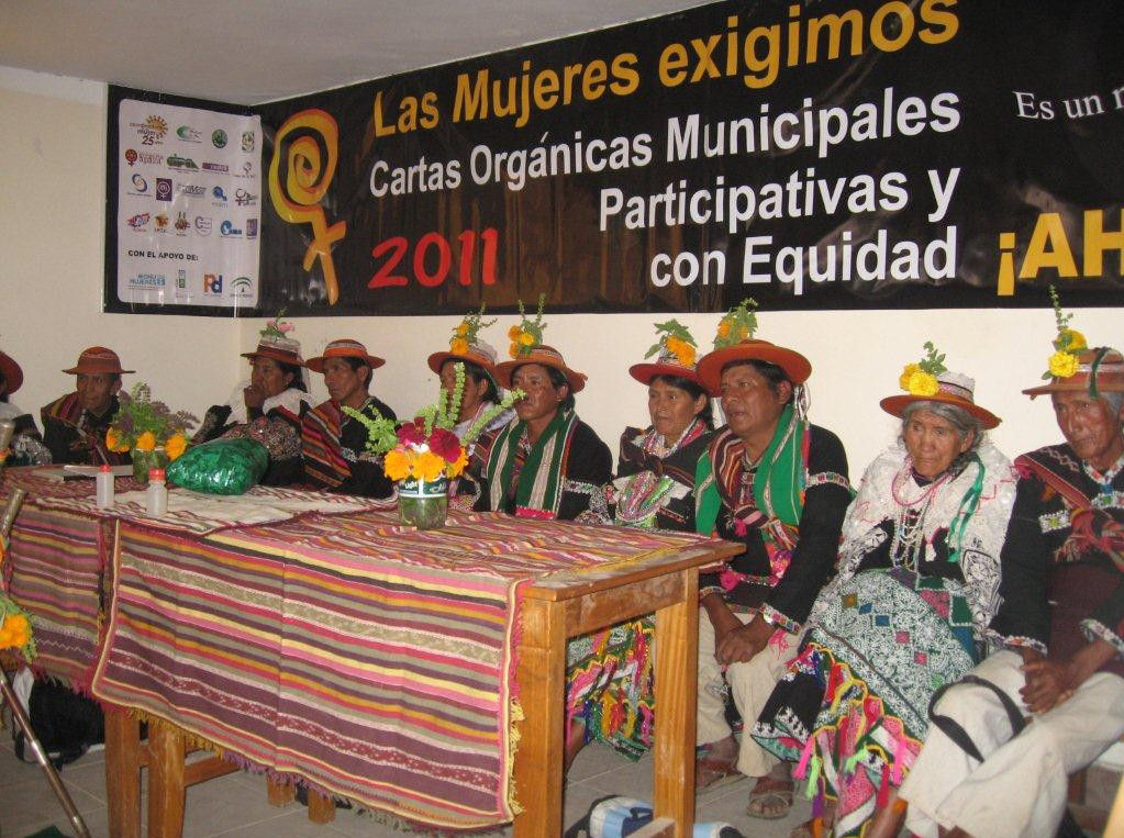A workshop by indigenous leaders in Calcha, Bolivia about strengthening municipal democratic processes (Photo credit: Jennifer Hadley)