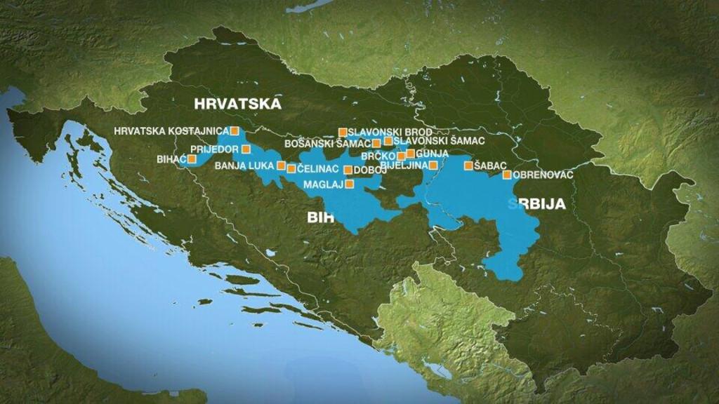 Flood visual of affected areas (Photo credit: Al-Jazeera Balkans)