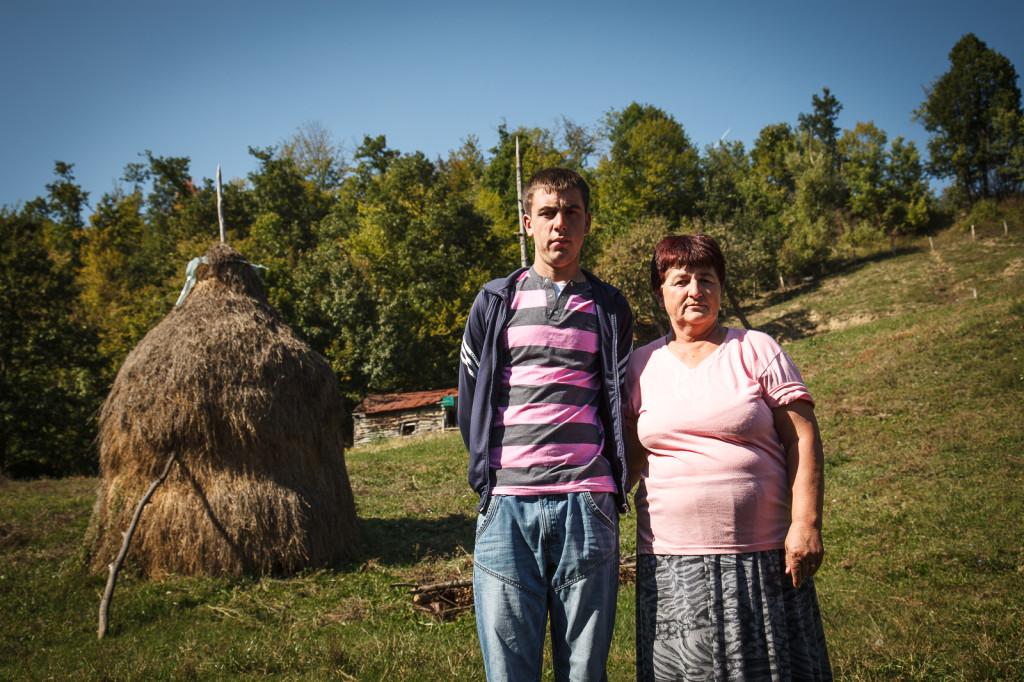 Razija Aljić, 54, with her only living son, Ruzmir, 19.