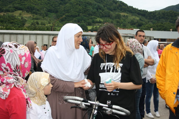 Sometimes pictures make you cry. Serbian cyclist Sanja Nikolic, pictured above, who road in a marathon from Belgrade to Srebrenica to attend last week's memorial, is comforted by a woman who lost 25 relatives and members of her family in the July 1995 massacre, who many still opt to minimize or forget. There's not much to say other than I hope that Balkan women can serve as an example to the rest of us.
