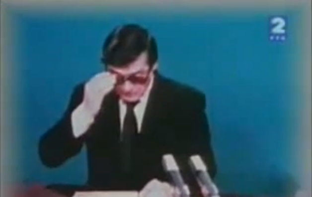 Television announcement of Tito's death, May 4, 1980 (Photo credit: YouTube)
