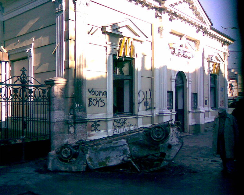 The first McDonald's in Eastern Europe.