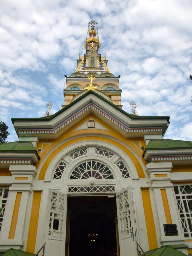 An all-wooden, brightly painted Christian Orthodox cathedral designed by Zenkov is situated in the same park. It is one of the few remaining Tsarist buildings in Almaty.
