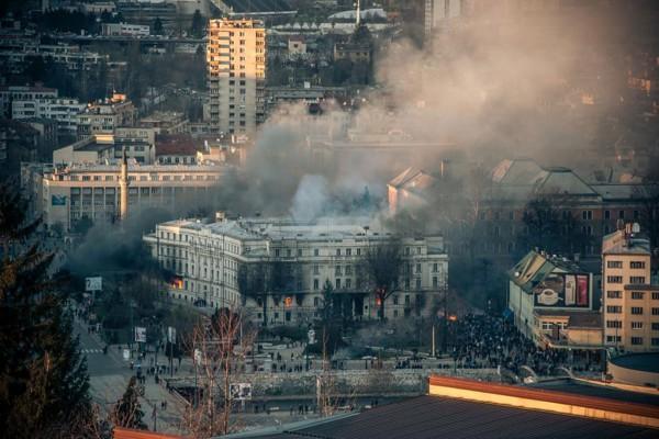 Sarajevo, February 2014. (Photo credit: Amer Kajmovic/Oslobodjenje)