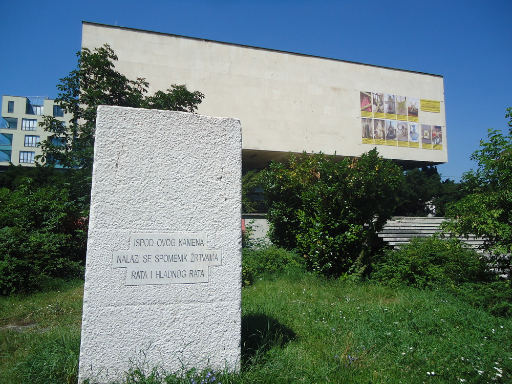 Monument to the war and Cold War, Braco Dimitrijević. (Photo credit: www.performingtheeast.com)