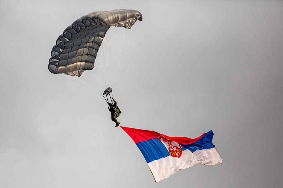 The military parade in Belgrade on October 16th was billed as a celebration of the 70th anniversary of the Serbian capital's liberation from Nazi occupying forces, but was also very much about the new government's honoring of VIP guest Vladimir Putin. (Photo credit: Ministry of Defense & Serbian Armed Forces/Facebook)