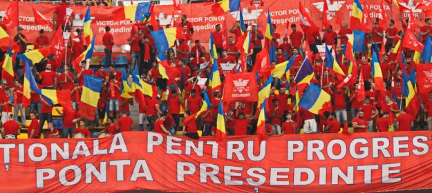 Victor Ponta birthday campaign rally: reminiscent of Ceausescu? (Photo credit: Politicaromanesca.ro)