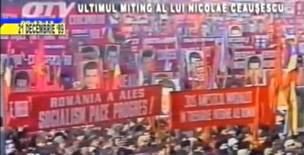 Nicolae Ceausescu's last speech, December 1989.