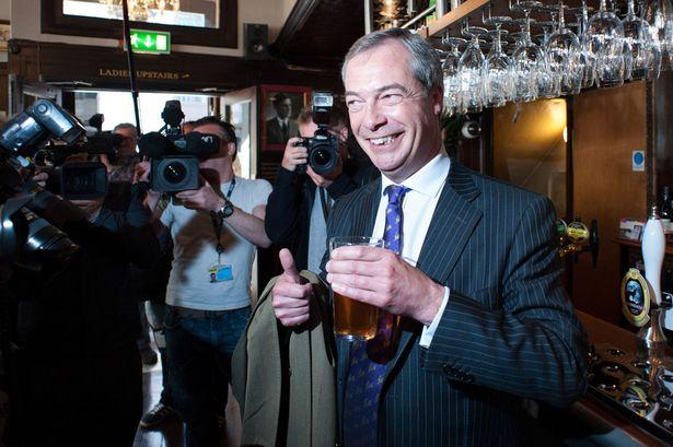 Real person Nigel Farage of UKIP. (Photo credit: mirror.co.uk)
