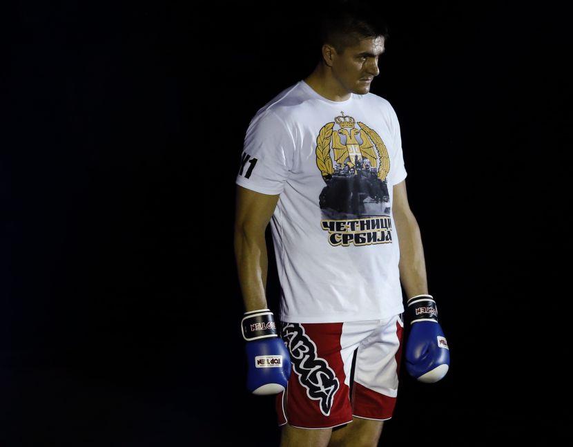 Darko Miličić as kickboxer (Photo credit: AP/Tanjug)