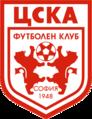 "CSKA's logo: ""lions playing football""."