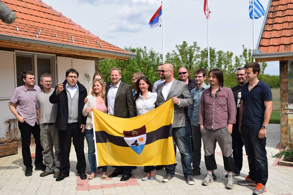 """The core of Liberland action group is heading to take care of the mother land"" (Photo credit: Liberland's Facebook page)"