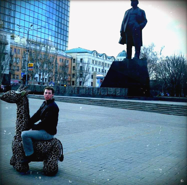 Lenin Square before the war, Donetsk (Photo credit: Miles Atkinson)