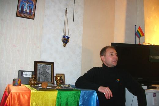 Roman Zojev, a gay priest in Donetsk (Photo credit: Miles Atkinson)