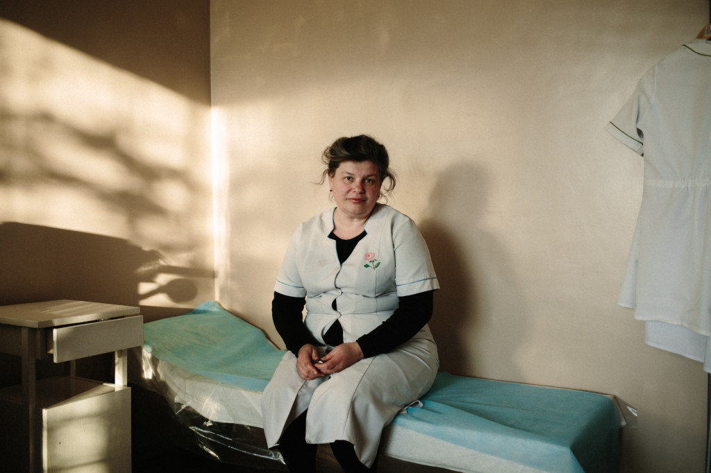 Elena, a nurse in Vodanyoe, a small mining town in Donetsk region, October 2014