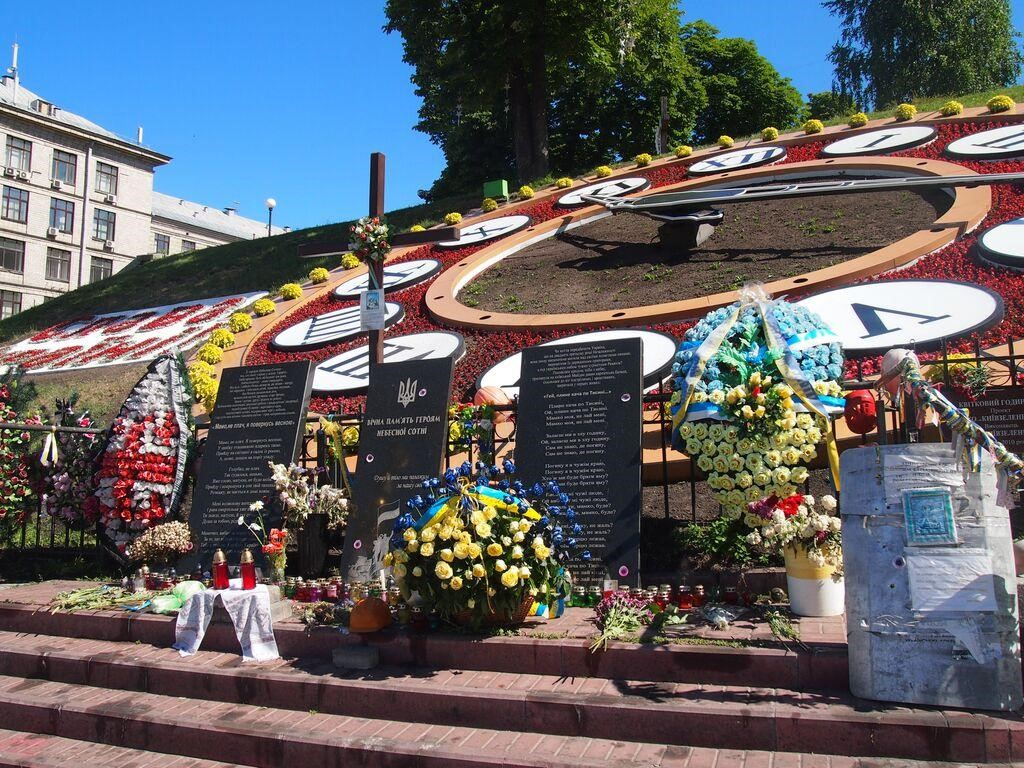 Institutskaya street, Kiev, June 2015 - A memorial to those who died during the Maidan protests (Credit: Anna Keri)
