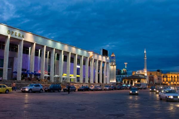 main square of tirana