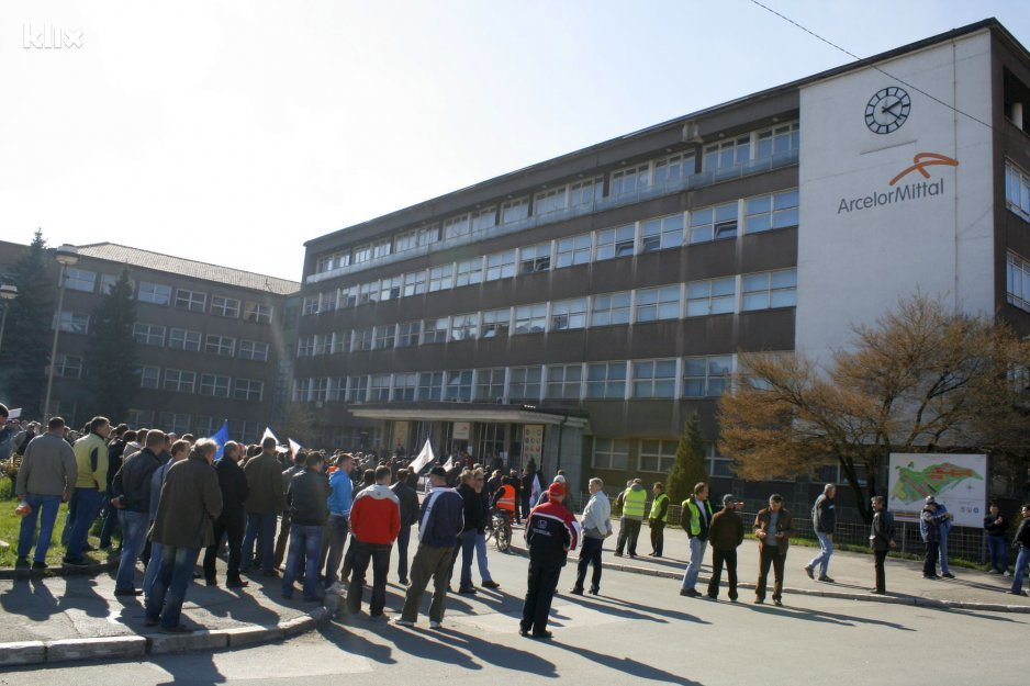 ArcelorMittal workers protest for worker's rights in 2014. Photo credit: : Elmedin Mehić/Klix.ba