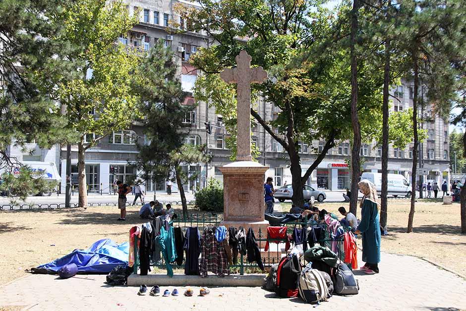 Migrants in Belgrade, Serbia. Photo credit: Mondo/ Goran Sivački