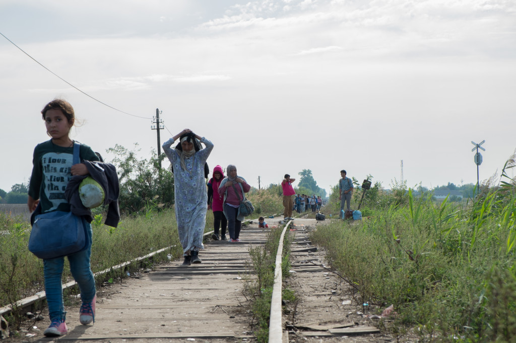 Horgos, before the border closed. Hungary closed its border to refugees 8h prior to the Sept. 15th deadline. Photo by author.