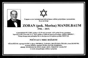 On the Death of Zoran Mandlbaum, the Jewish Go-Between in Mostar