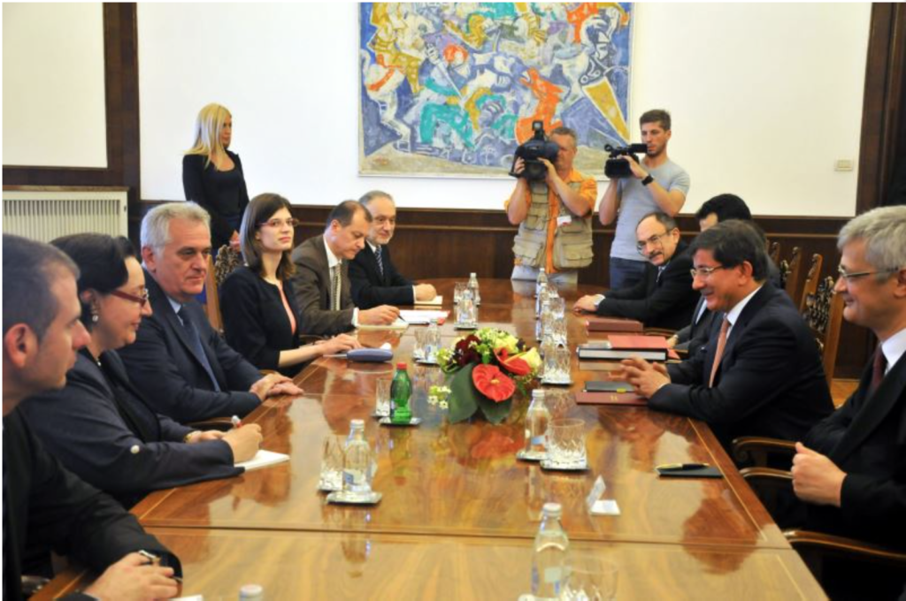 Nikolic, Davutoglu, etc. (Photo credit: MFA Turkey)