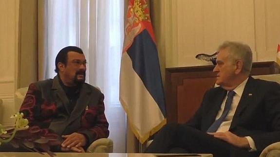 Seagal and President Nikolic